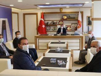 TCDD Sivas 지역 대표단이 Havza 시장 Özdemir를 방문