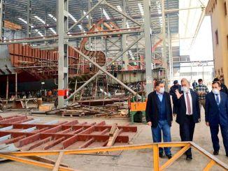 Kunjungan ke Galangan Kapal Camburnu dari Gubernur Trabzon Ustaogl