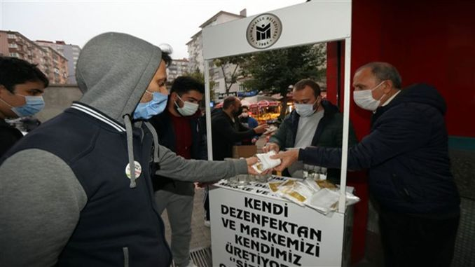 Yenimahalle Municipality Continues to Distribution of Masks in Metro Stations