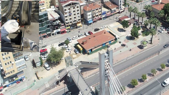 Adnan menderes overpass stairs will be maintained