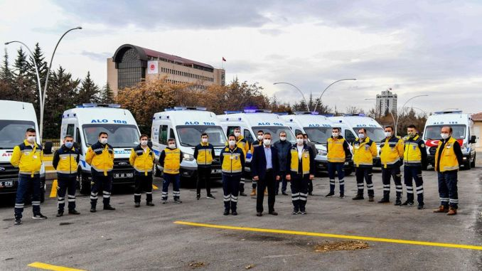 Ankara's large ambulance and dialysis vehicle fleet expanded