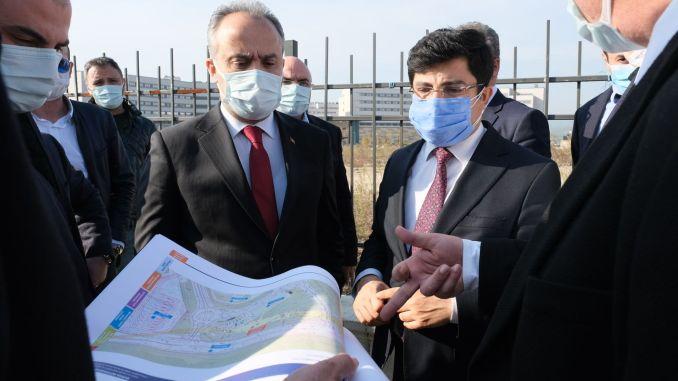 bursa city hospital rail system works start
