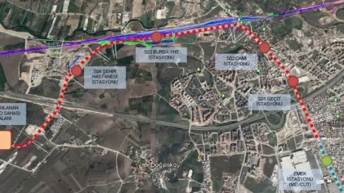 bursa city hospital rail system map