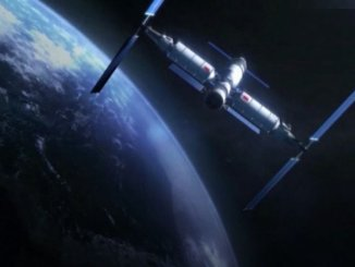 The genie will begin building the space station in the first half of