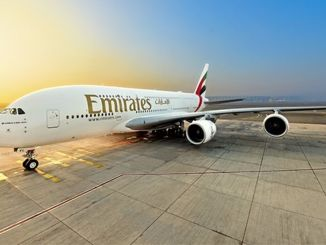 emirates welcomed the first of three to be delivered in December