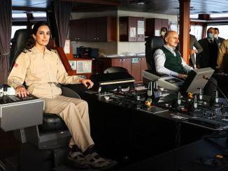 Karaismailoğlu turkiyenin la ceea ce prima doamnă a vizitat navele de intervenție de urgență