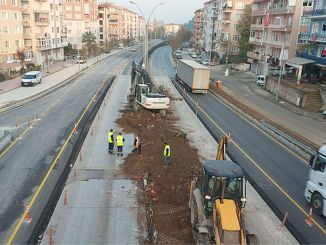 Yalova direction was opened to traffic at the karamursel bridge crossroad