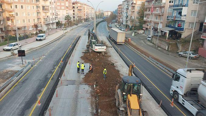 Yalova direction was opened to traffic at the karamursel bridge crossroad