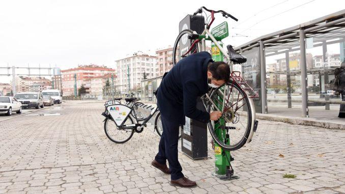 The number of bicycle repair stations has increased in Konya