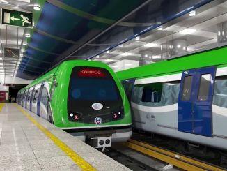 metrou și stație de metrou până la konyali
