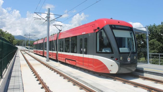 Tram and bus will be taken to samsuna