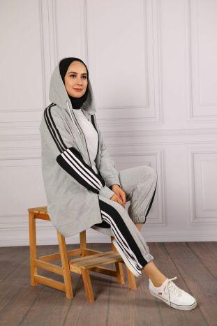 strip detailed coverlet light hijab