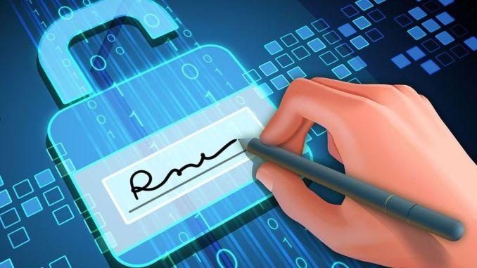 E signature and Mobile Signature Million Asti