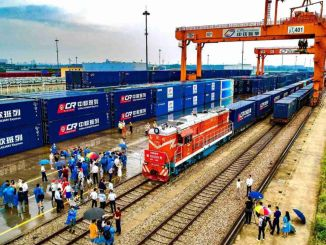 Number of trains in gin europe passing through alataw strait sets a new record