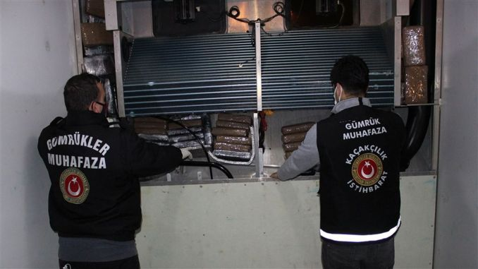 Kilograms of cocaine hidden in two containers were seized in Ambarli port