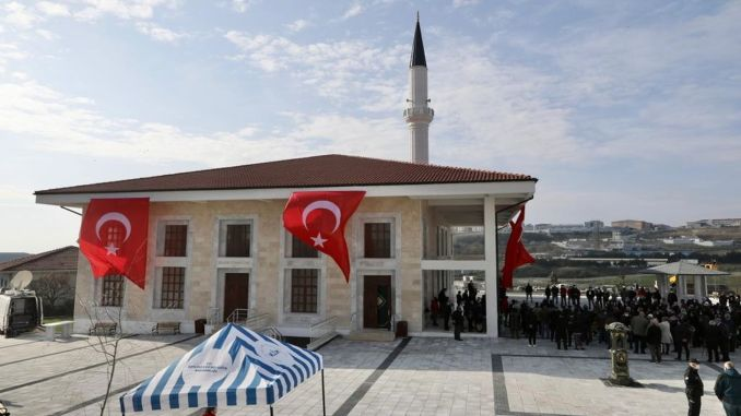 Ibrahim Cevahir Mosque in Beylikduzund was opened to worship