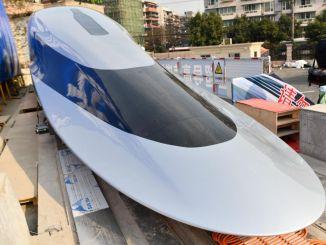 تقدم شركة سين النموذج الأولي لقطار ماجليف القادر على السرعة بالكيلومترات في الساعة