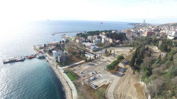 The darica beach car park has come to an end