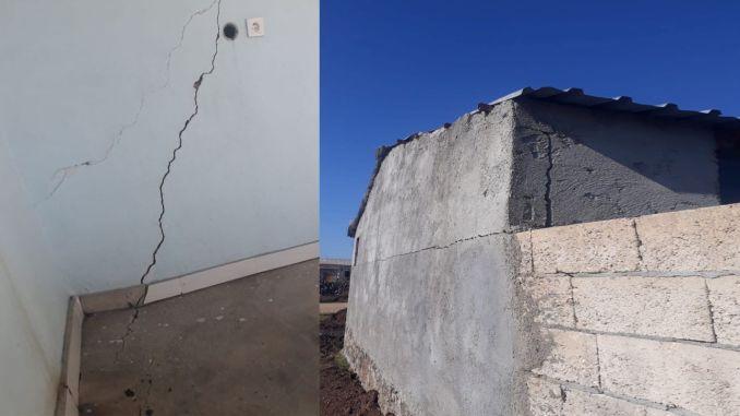 Dynamite used for the railway line in diyarbakir mardin damaged houses