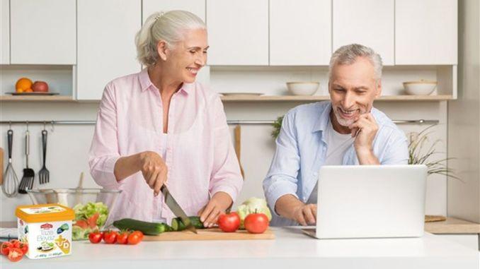 Haben Sie die Person gesund, indem Sie richtig essen