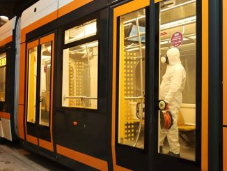 detailed cleaning from estram at tram and stops