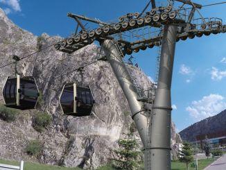 Ang proyekto sa Ferhat dagi cable car mao ang mag-una sa Amasya