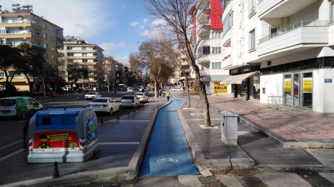 target kilometer bike path in gaziantep