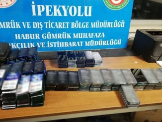 Hundreds of mobile phones were seized at the habur gumruk door