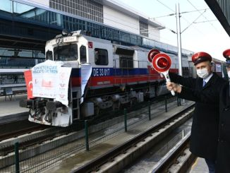 Export trains to russia and jin depart from Ankara