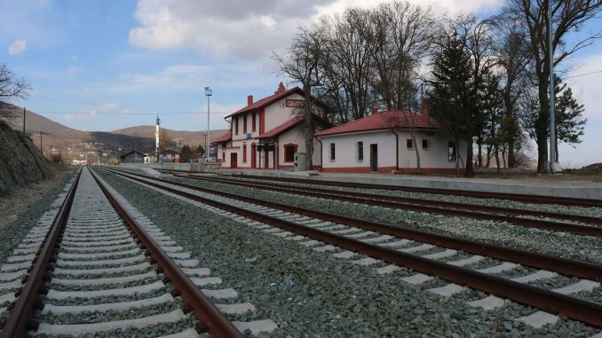 Construction of walking road to various stations in Samsun thick line