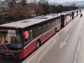 Samsunista aloitettiin linja-autoliikenne kaupungin sisäpuolelle.