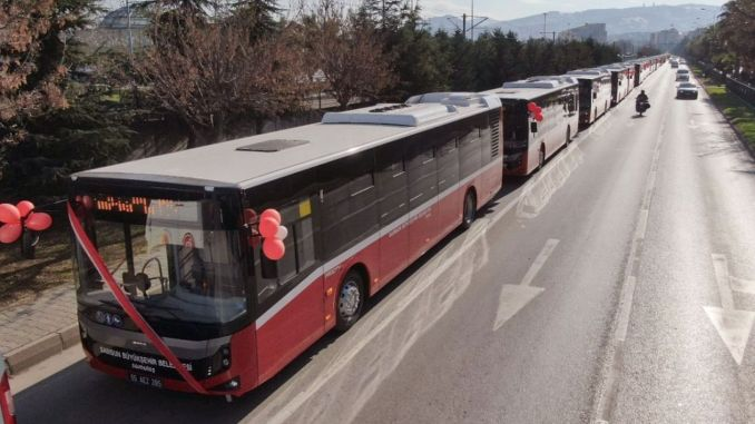 Bus service started in Samsun for transportation within the city.