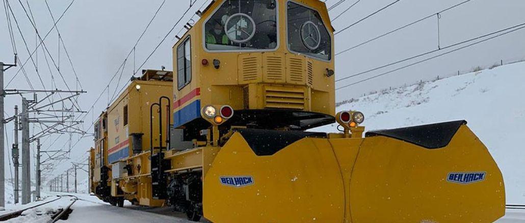 tcdd kämpar med snö på järnvägar