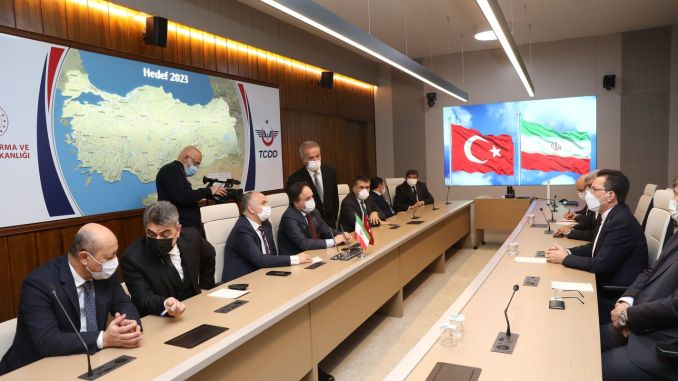 turkey and Iran meet representatives of the railways was ankarada