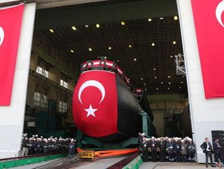 new type submarine project piri reis will be launched into the water and hizir chief will be pulled into the pool