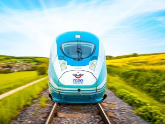 High-speed train works in the new city started