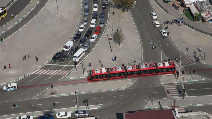 طريق أنقرة بدلاً من uluyol في وسائل النقل العام في بورصة