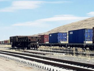 exports by rail increased by percentage points to a record level