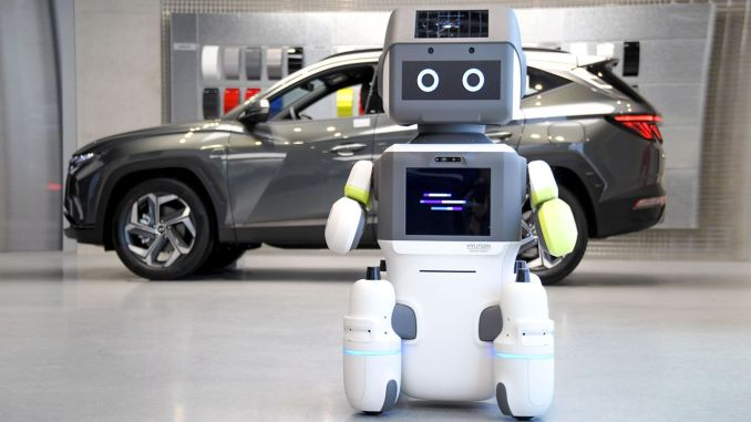 hyundai engine group introduced humanoid robot branch