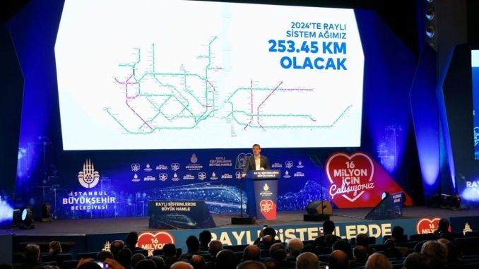 Our imamoglu goal is the kilometer rail system