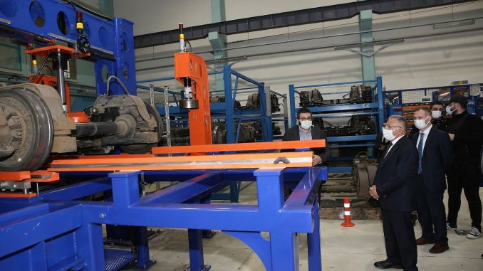 Kayseri transportation as XNUMX percent domestic production bogie press