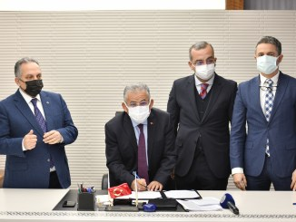 Signatures have been signed for Talas homeland tram line in Kayseri