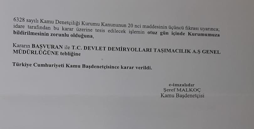 kdk to tcdd tasimacilik a sye quiz exam warning