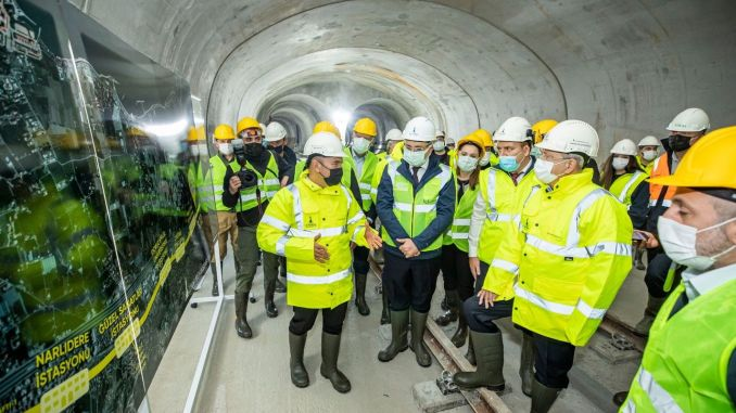 Kilicdaroglu examined the construction works on narlidere metro line