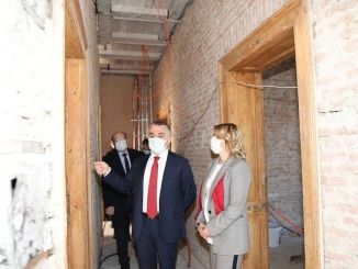 Restoration works of the Kırklareli historical station building continue