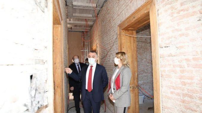 Restoration works of the Kırklareli historical station building continue
