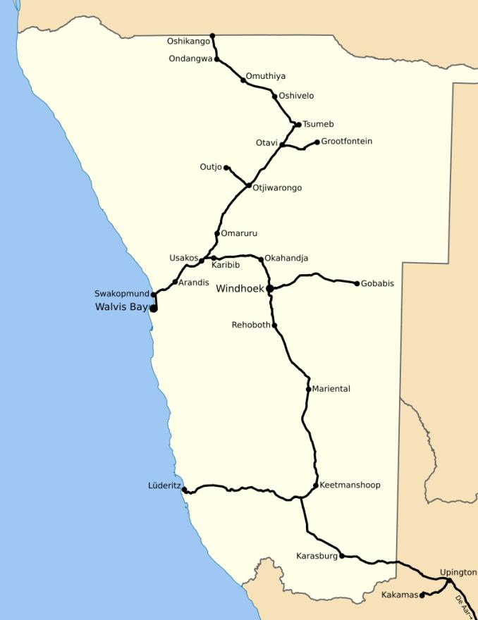 namibya demiryolu haritasi