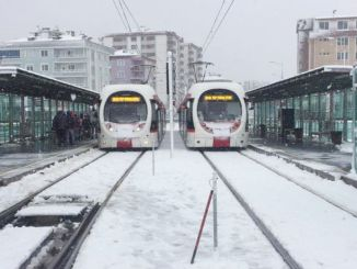 samsun tram services not affected by snow
