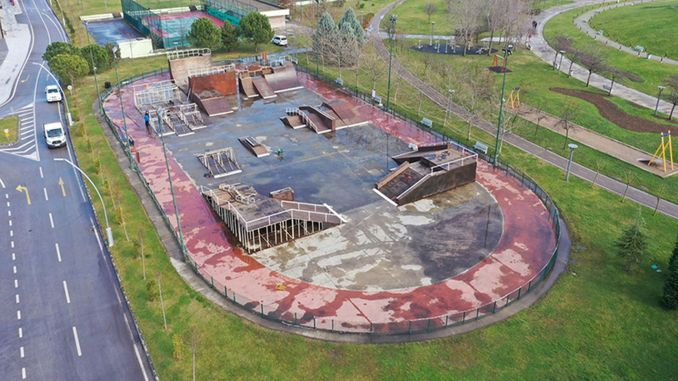 seka park skateboard track is being renovated