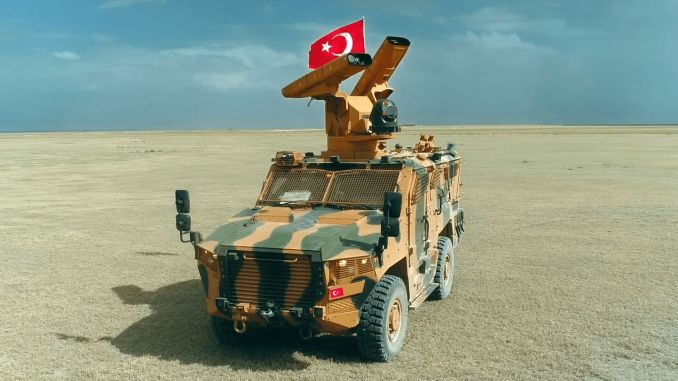 sungur air defense missile system successfully hit its target